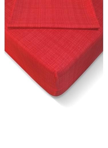 Alla Turca Ranforce 160*200 cm Lastikli Çarşaf Seti Kırmızı